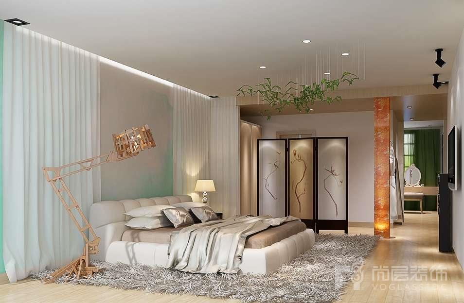 龙湖好望山现代卧室别墅装修效果图