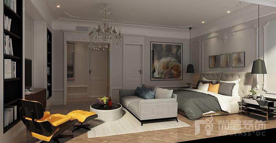 溪上玫瑰园现代风格卧室装修效果图