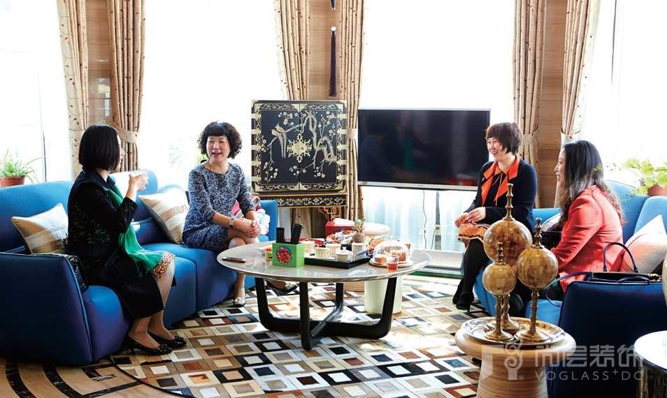 银丽高尔夫别墅装修女业主和她的朋友们