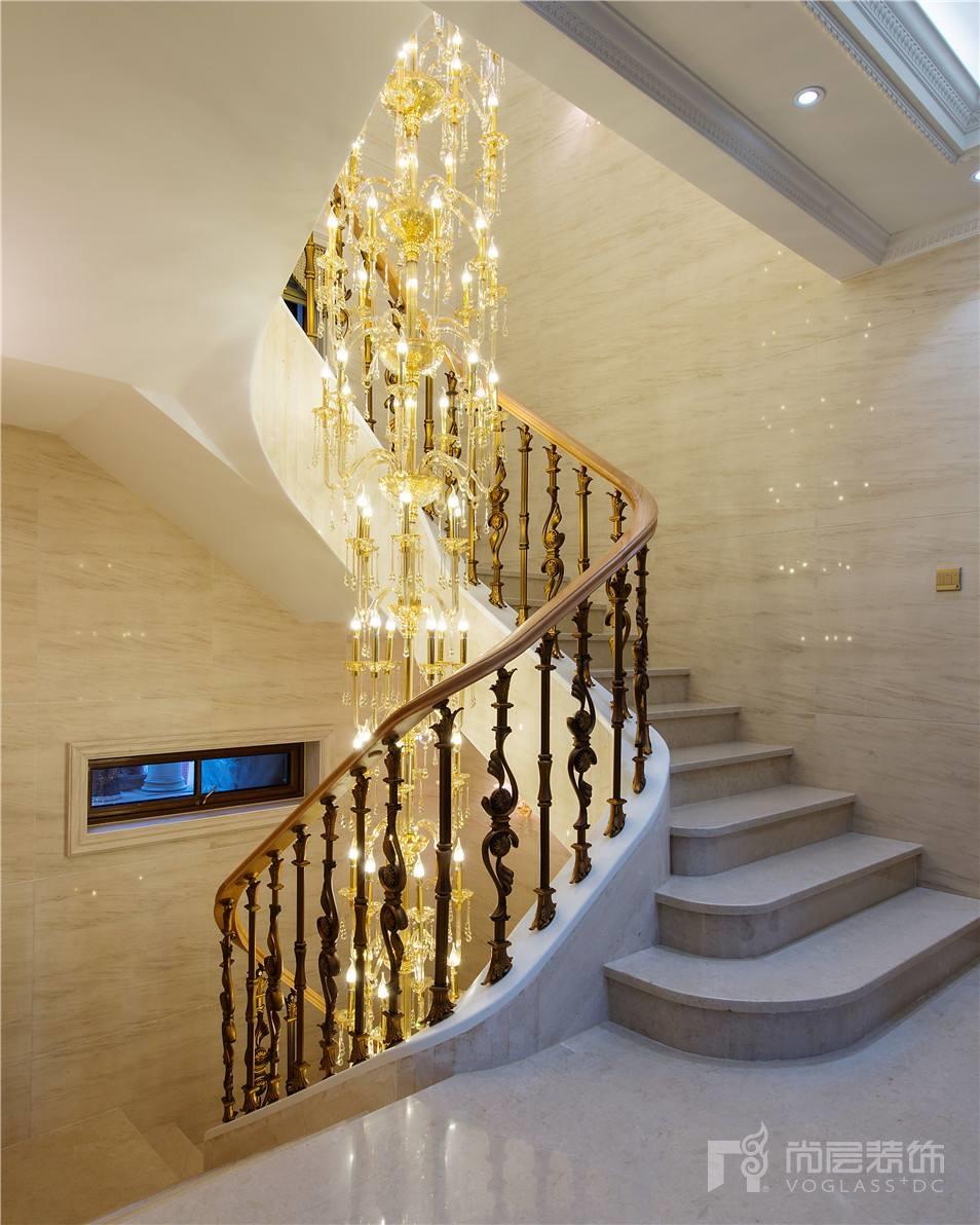 九龙仓国宾一号简约欧式风格680平米别墅装修设计案例
