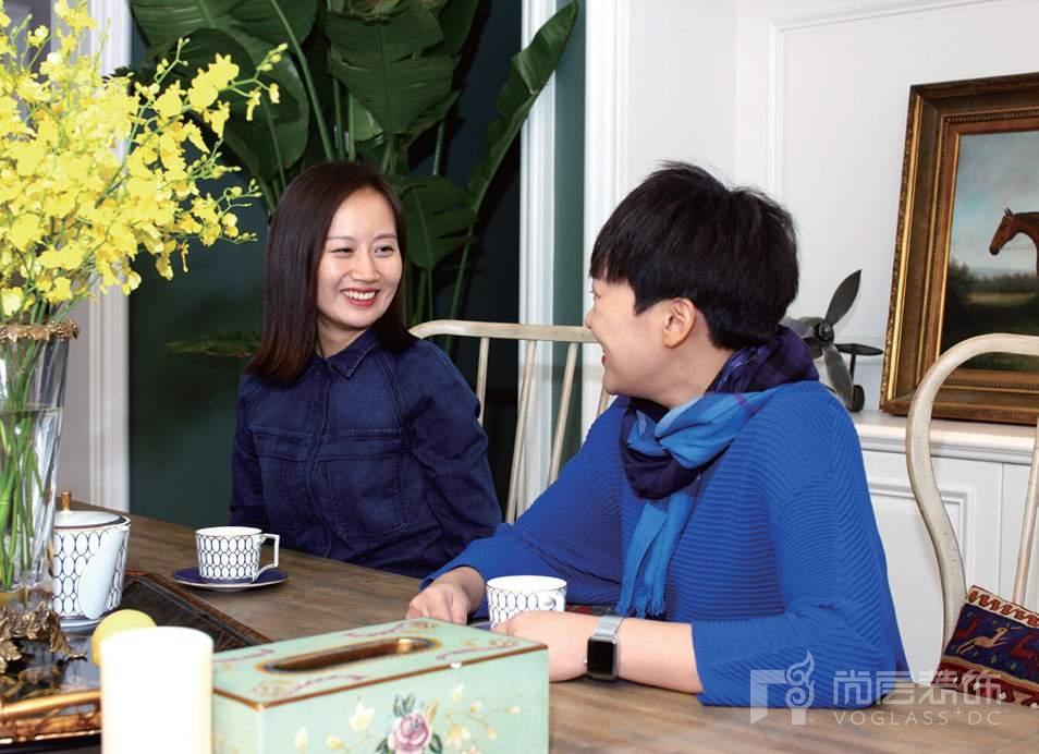 尚层装饰客户郝女士与设计师张萍