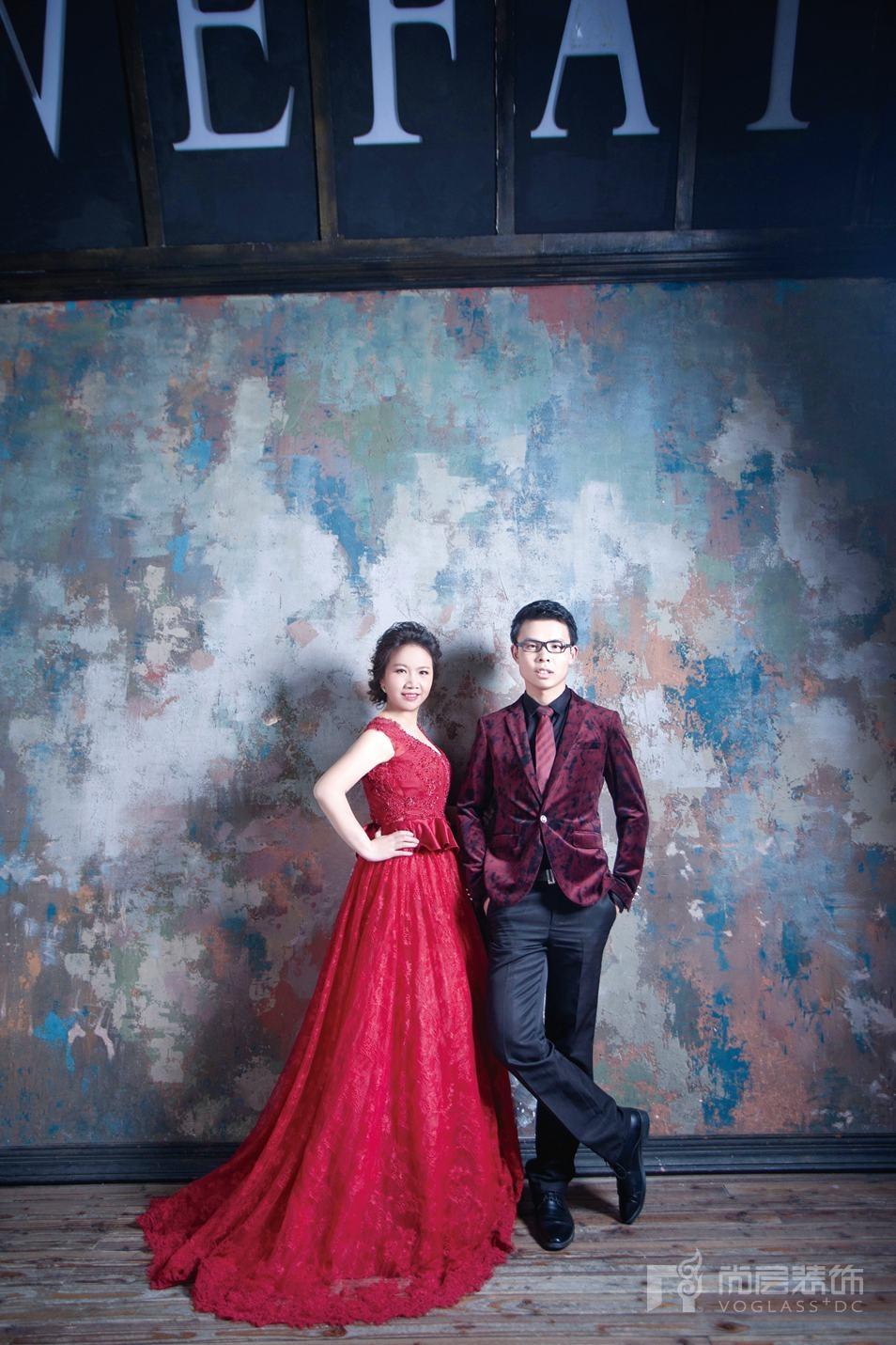 朱晓玲的婚纱照