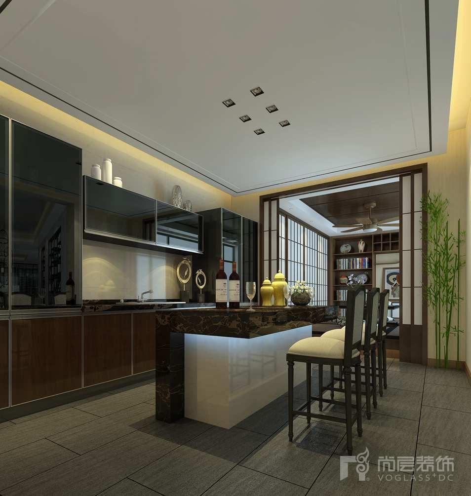北京院子新中式榻榻米区别墅装修效果图