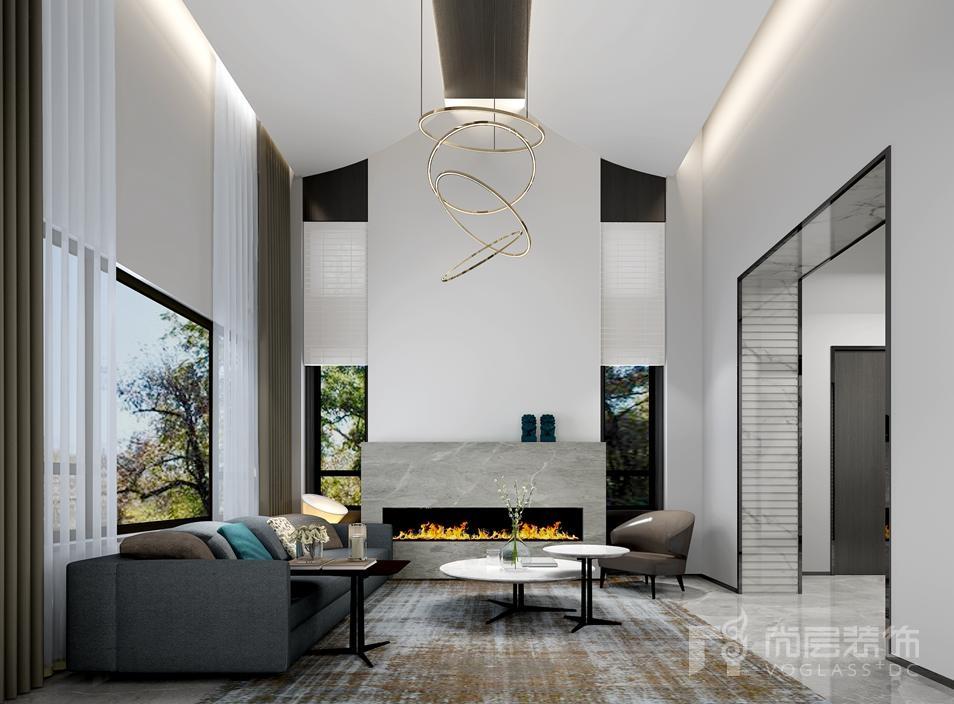 御汤山现代风格客厅装修图