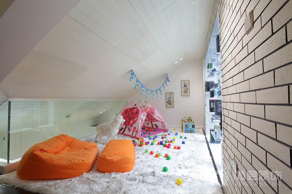 东岸国际简欧儿童房别墅装修效果图