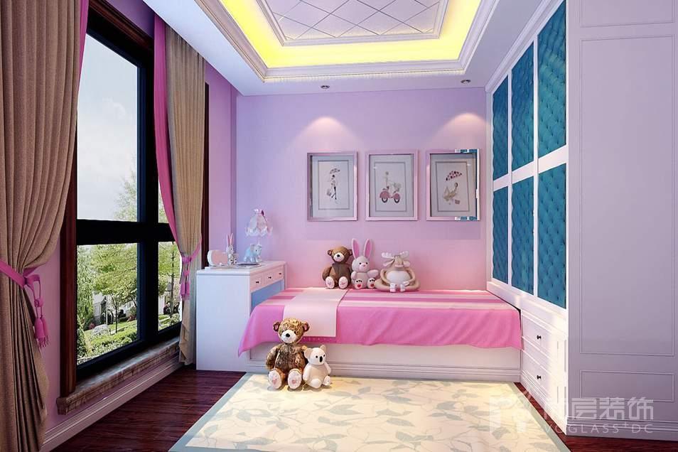 泛海国际现代美式儿童房别墅装修效果图