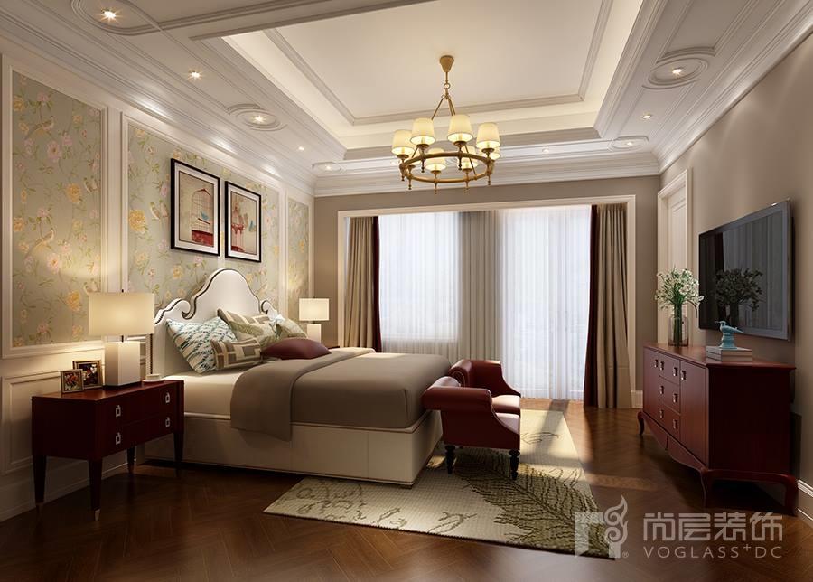 溪上玫瑰园美式风格卧室风格装修效果图