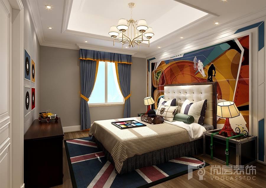 溪上玫瑰园美式卧室装修效果图