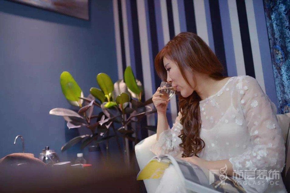 尚层装饰设计师徐海萍喜欢喝茶