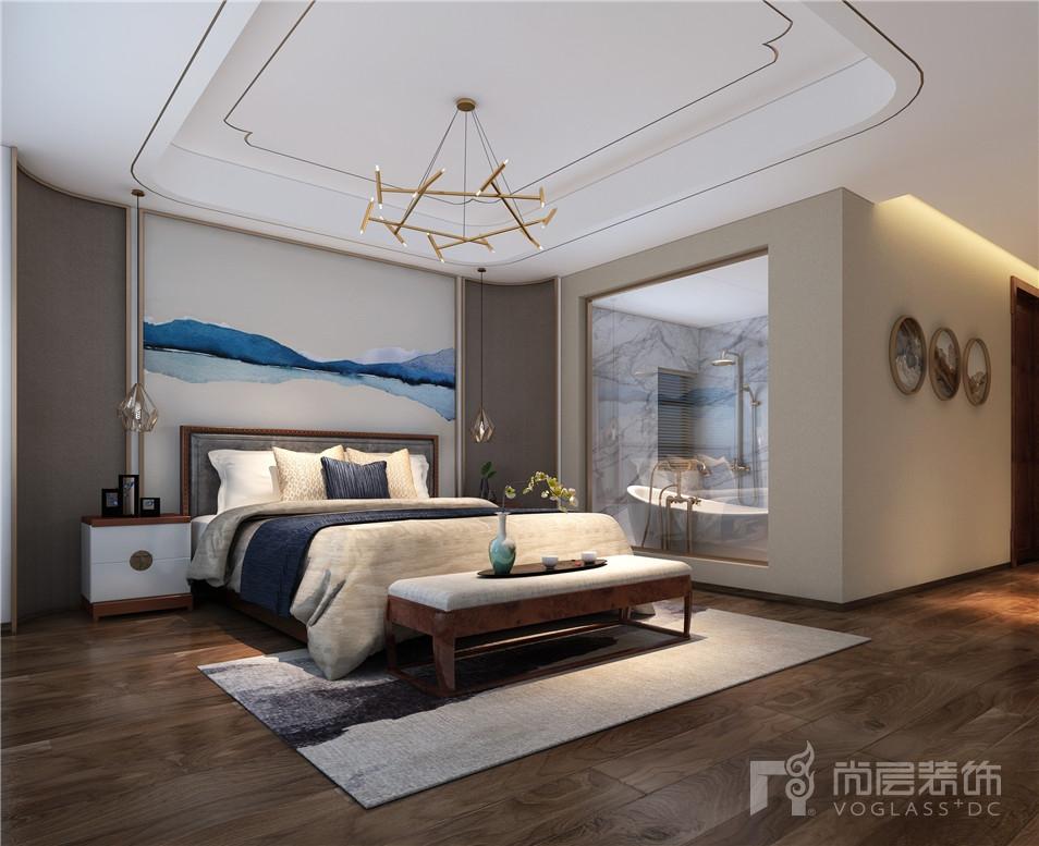 中航樾玺现代中式风格300平米别墅装修设计案例_效果