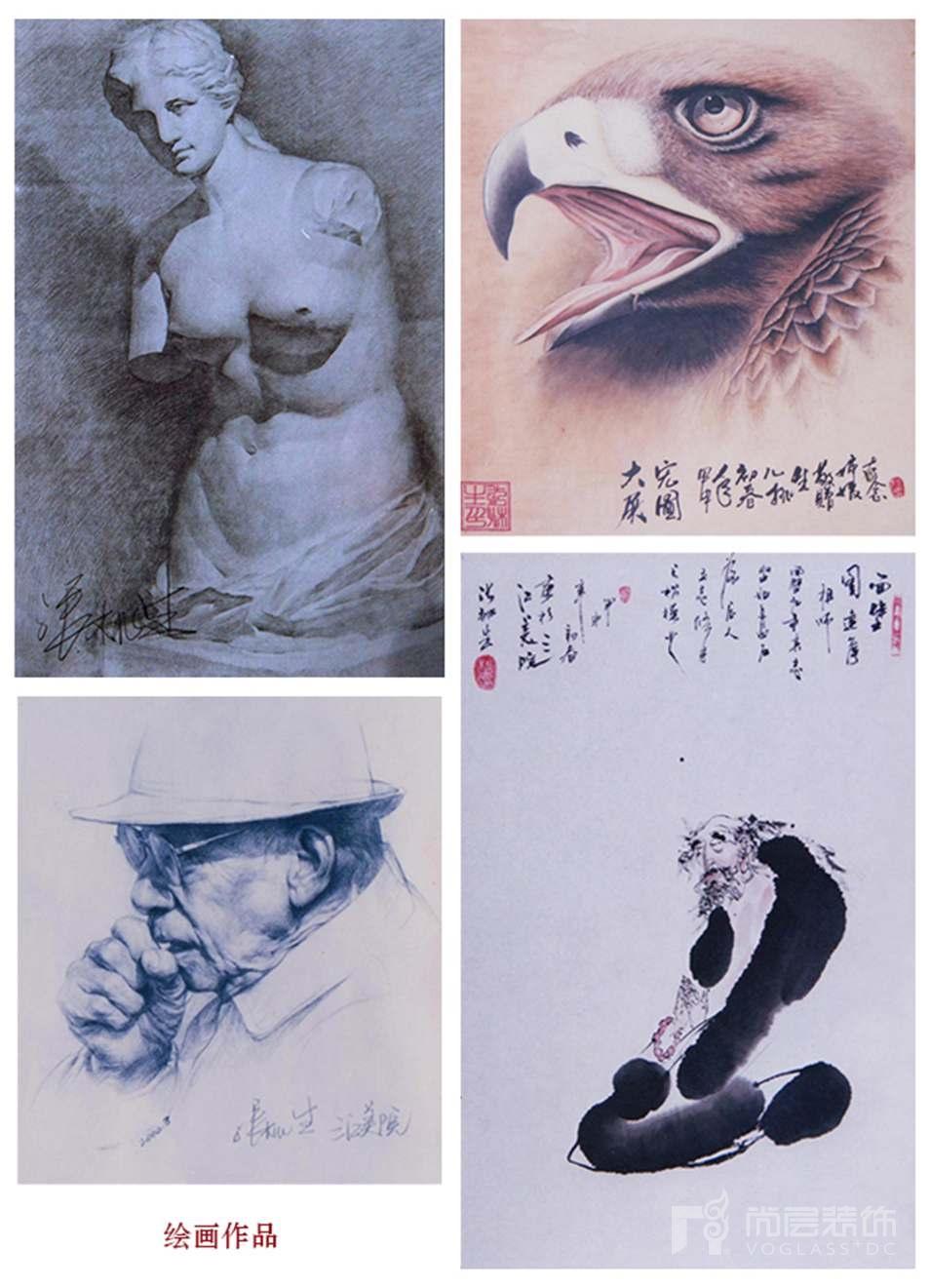 尚层设计师张桃生年轻时个人绘画