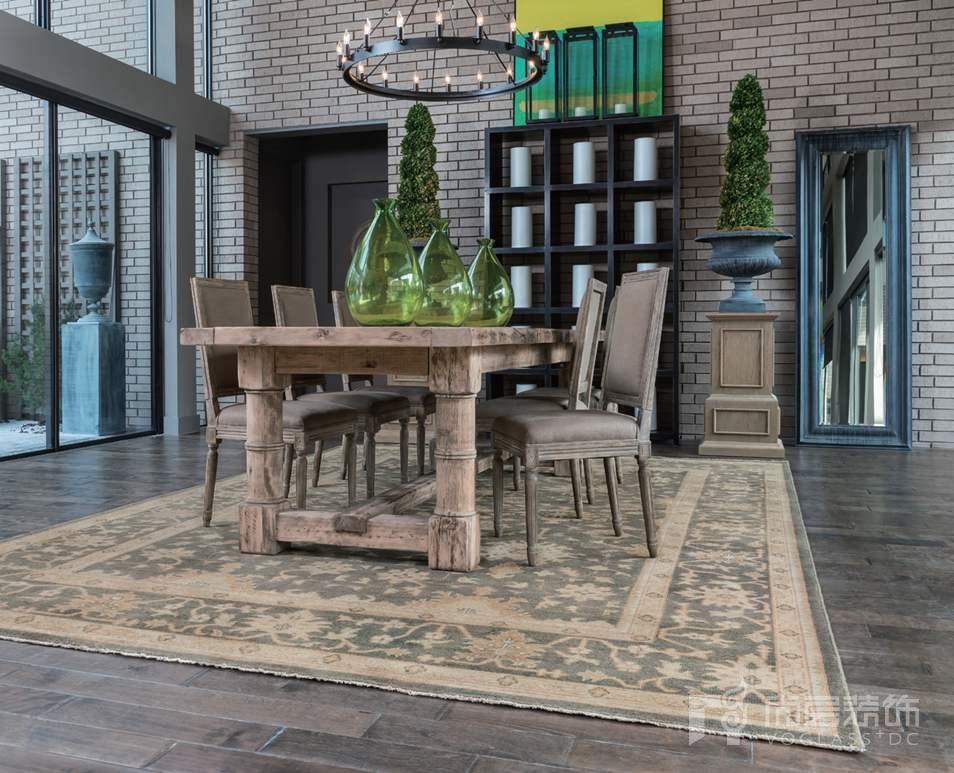 尚层装饰软装搭配餐厅适用的地毯