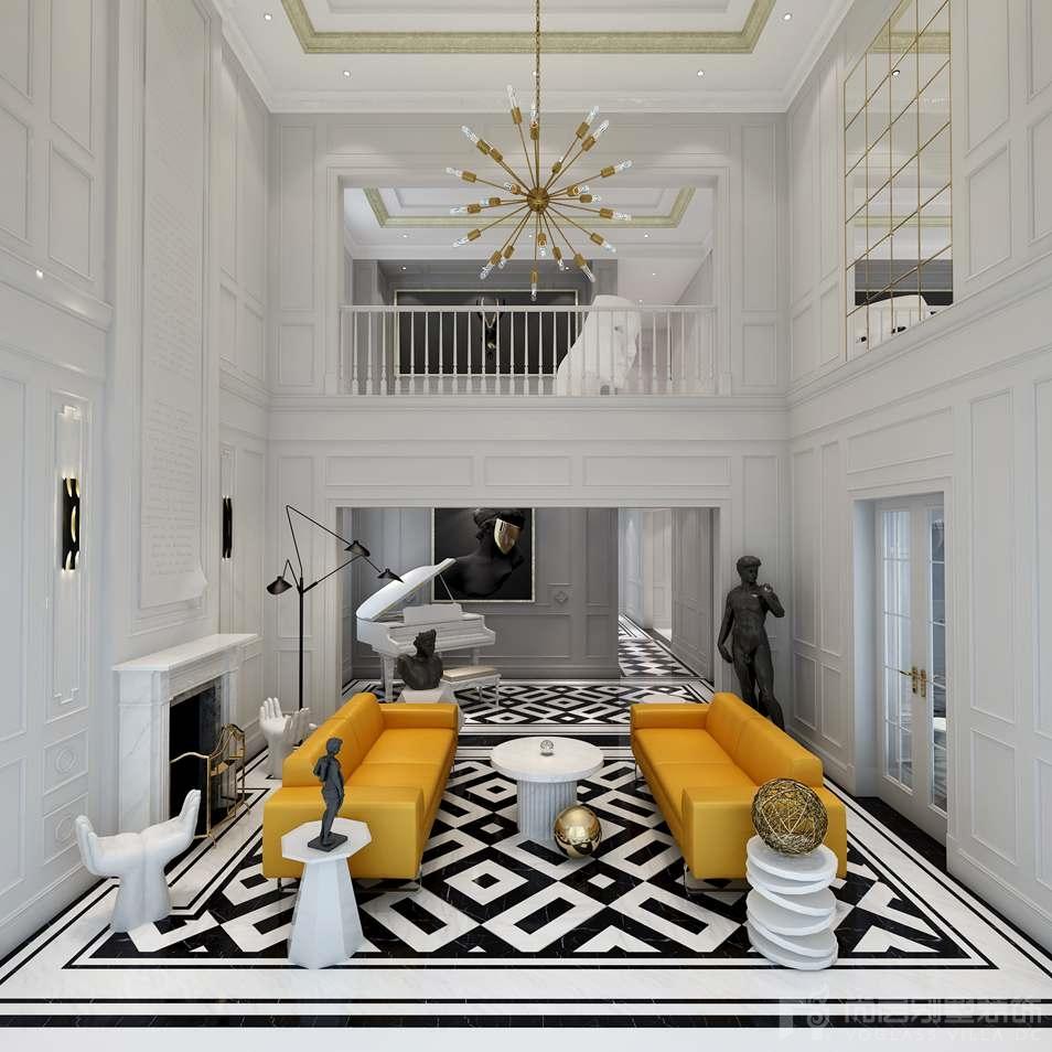 凯德麓语新古典风格客厅装修图