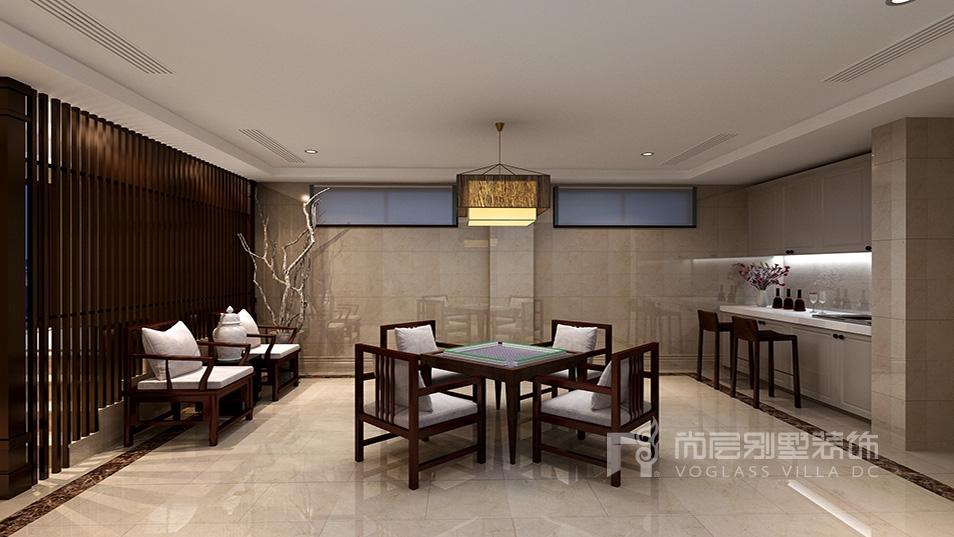 九龙仓国宾一号中式风格地下室装修效果图