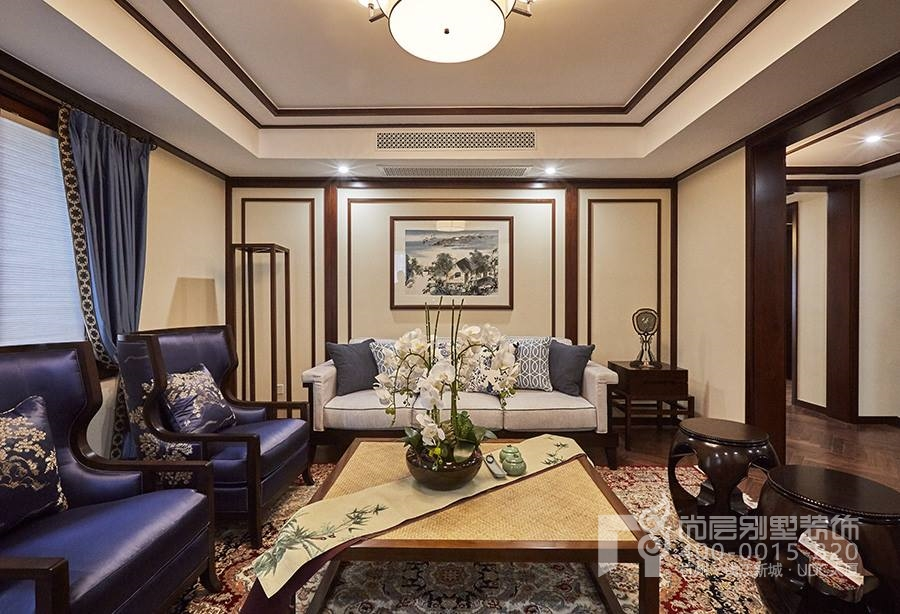 梦湖山庄新中式风格家庭室装修实景图