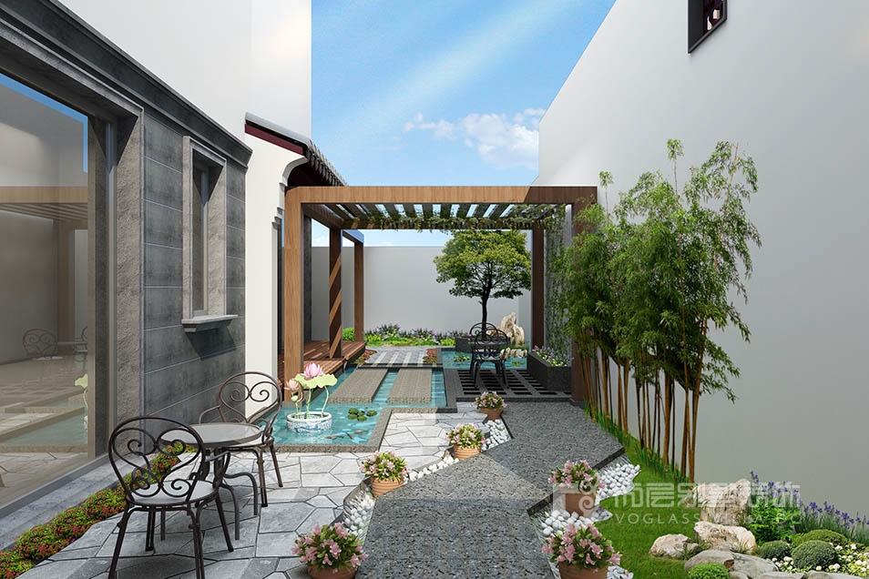 平门府现代中式风格庭园效果图