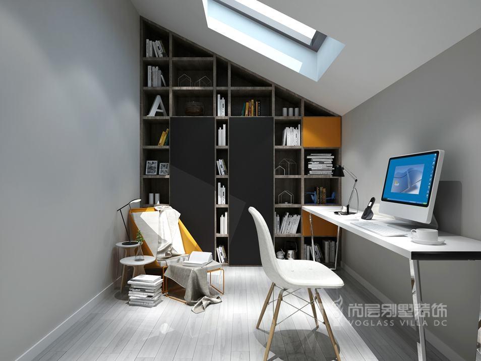 尚层别墅装修书房效果图