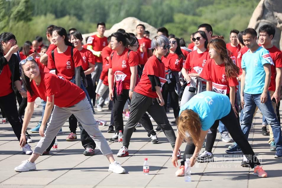 尚层千人运动会跑前热身
