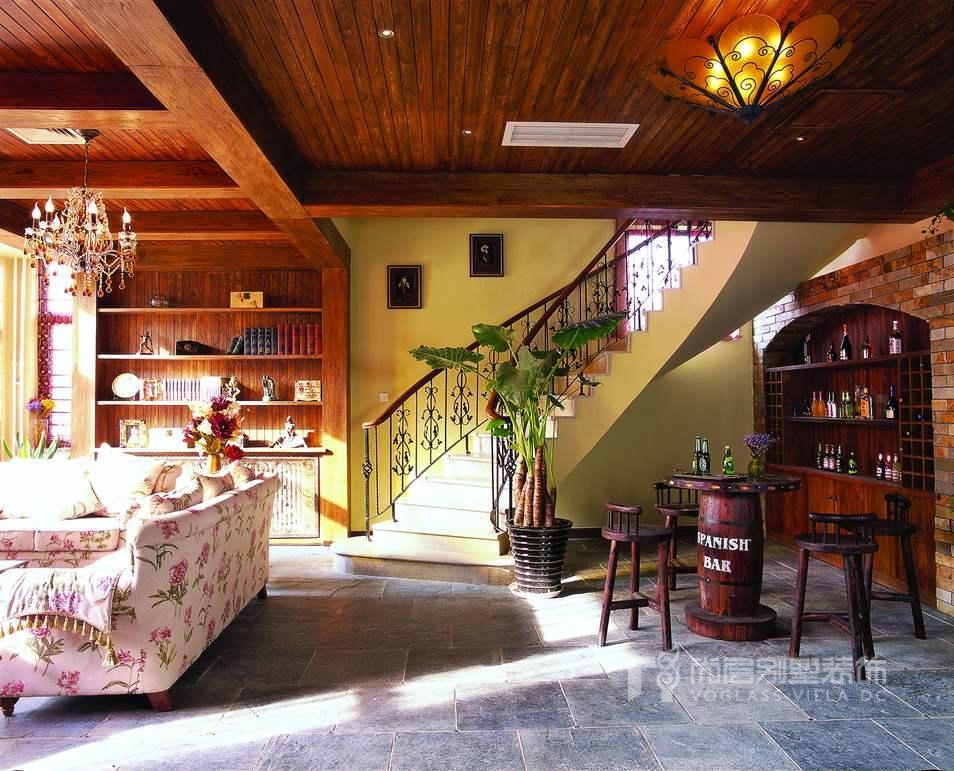 美式风格别墅装修-家庭室