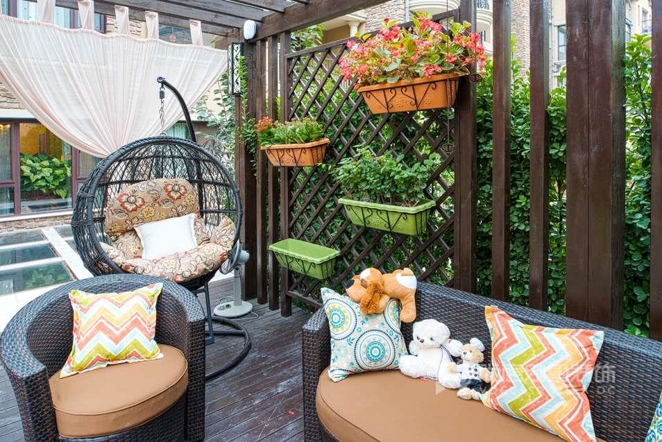 尚层装饰私家别墅花园设计实景案例