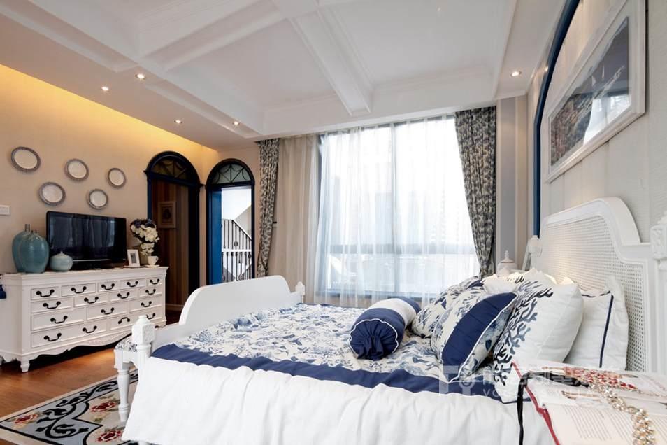 地中海别墅装修案例卧室实景图