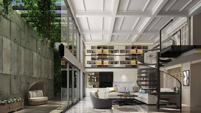 阳光城花满墅地下室装修设计效果图