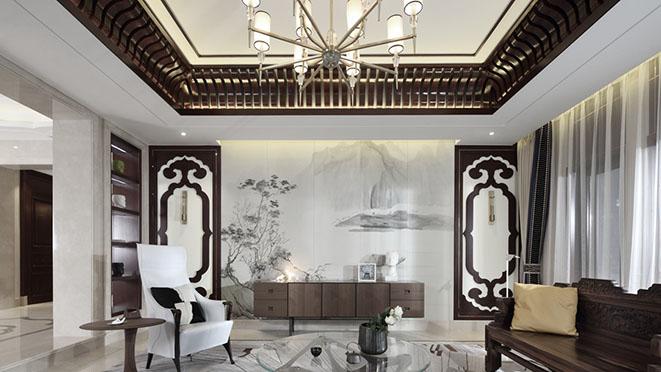 九溪玫瑰园新中式风格装修实景图