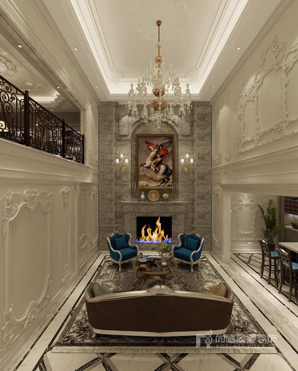 60平方米法式轻奢风格 别墅装修方案 尚层装饰