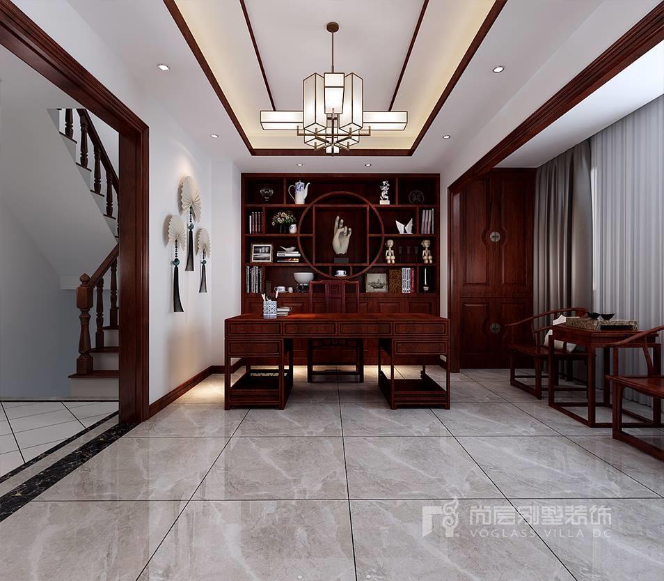 鴻坤原鄉郡254平米新中式風格別墅裝修效果圖_天津