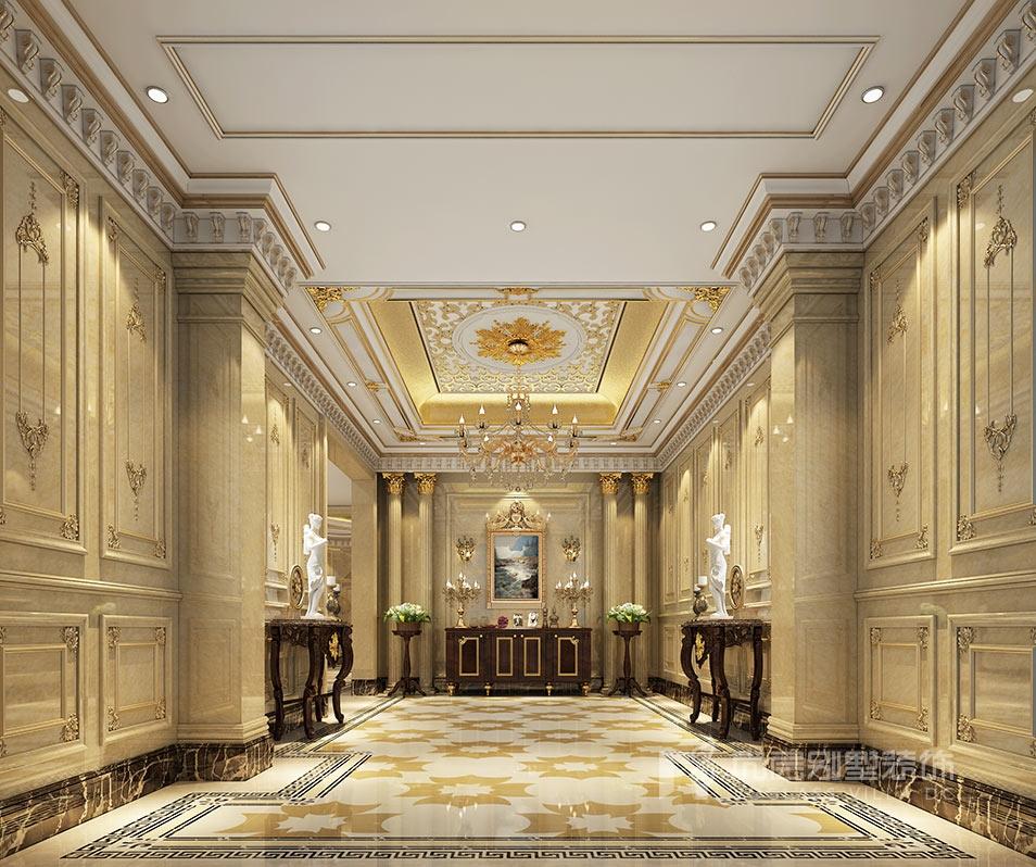 金科王府欧式风格1350平米别墅装修设计案例_效果图
