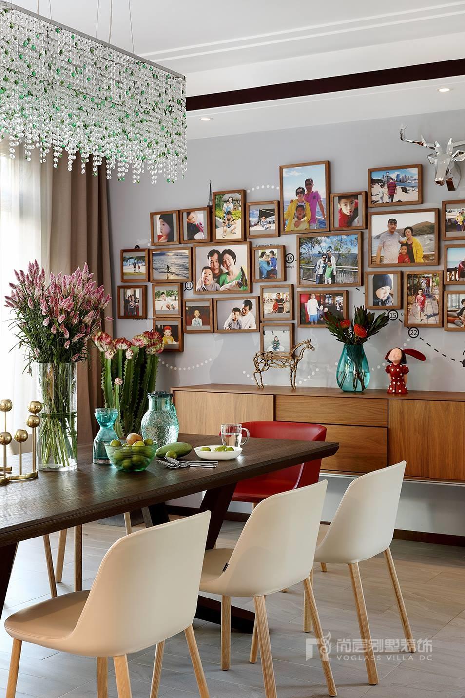 优山美地新中式风格餐厅装修实景图