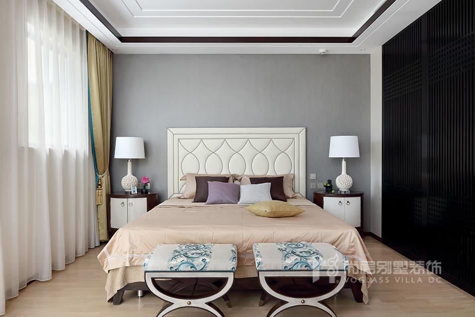 优山美地新中式风格卧室壮戏实景图