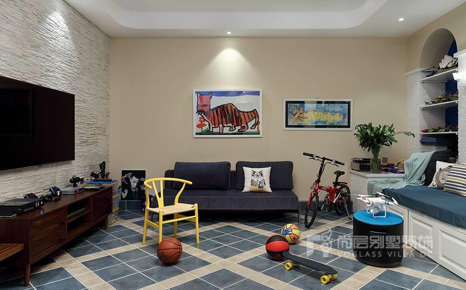 优山美地新中式风格家庭室装修实景图