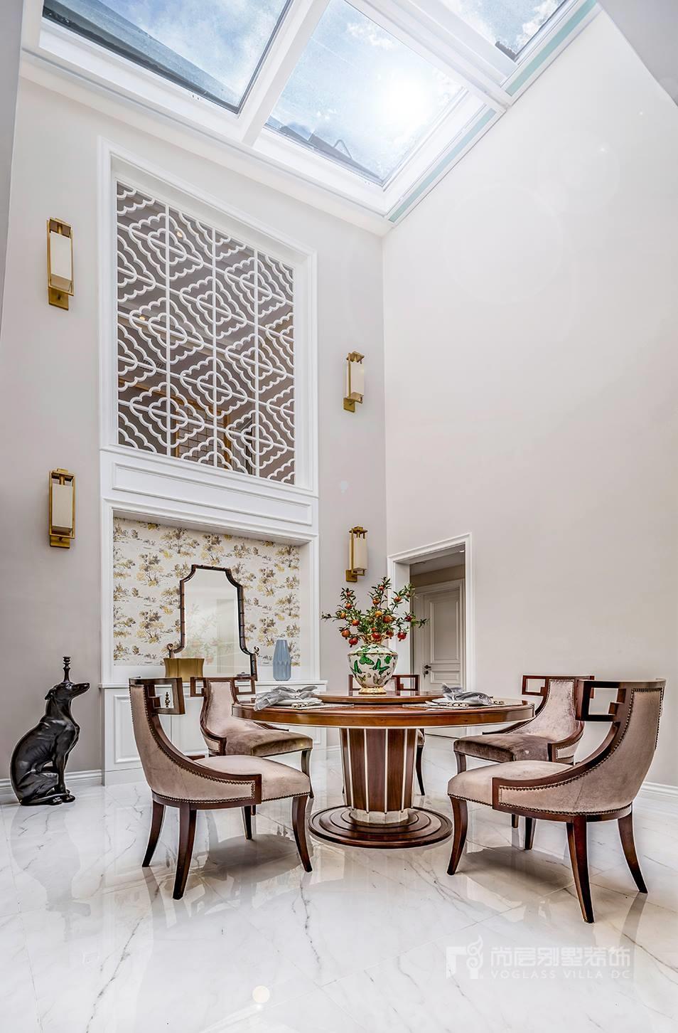 西山庭院美式风格餐厅装修实景图
