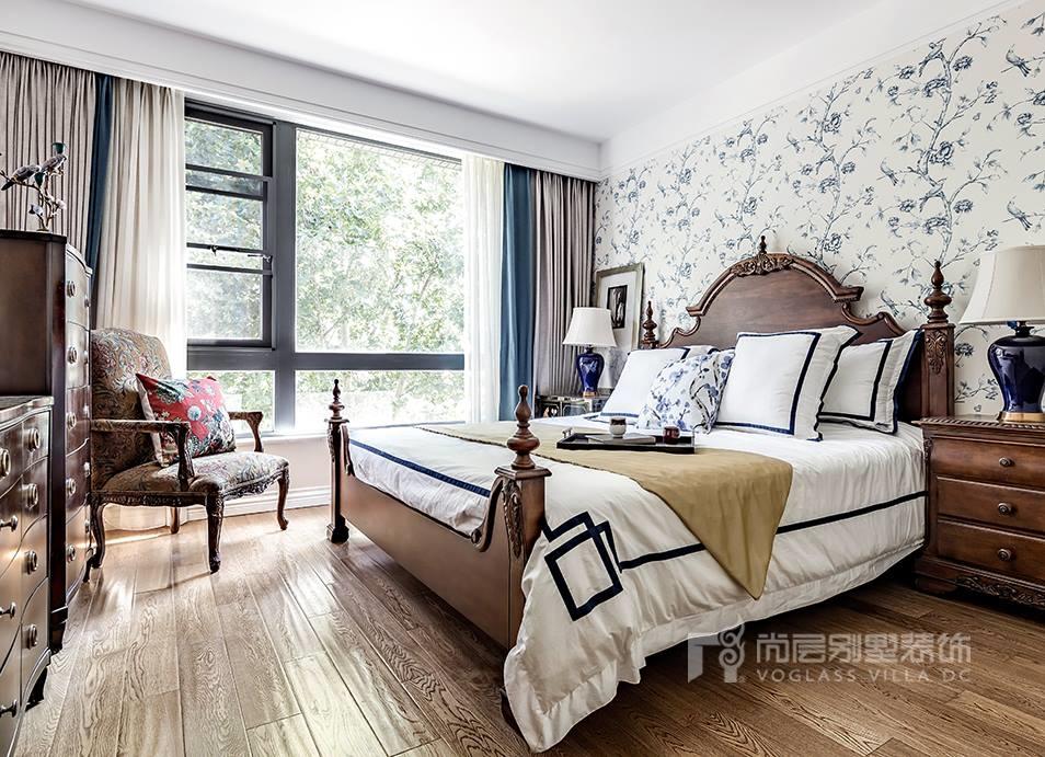 西山庭院美式风格卧室装修实景图