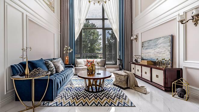 西山庭院260平米美式风格装修实景图