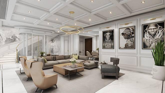 溪上玫瑰园别墅现代极简风格装修设计图