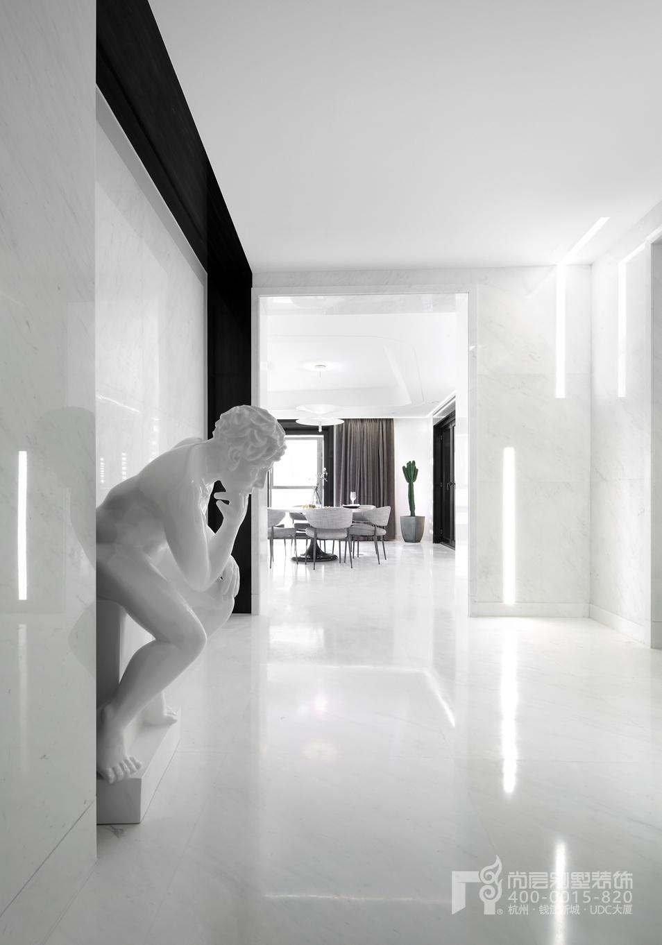 世贸之西湖黑白灰装修设计实景图