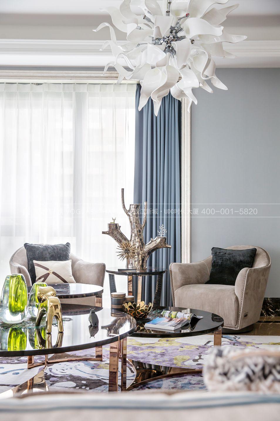 现代轻奢风格案例-客厅细节图-尚层软装