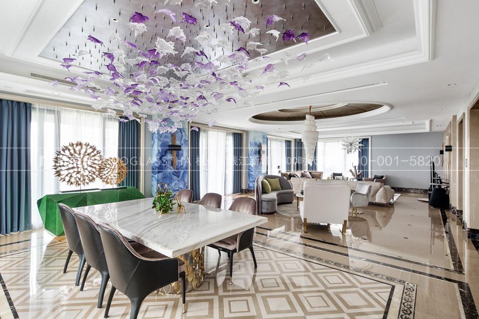 现代轻奢风格案例-餐厅实景图-尚层软装