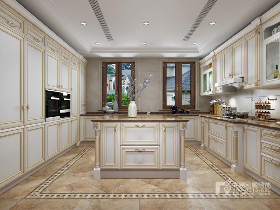 溪上玫瑰园法式风格厨房装修效果图