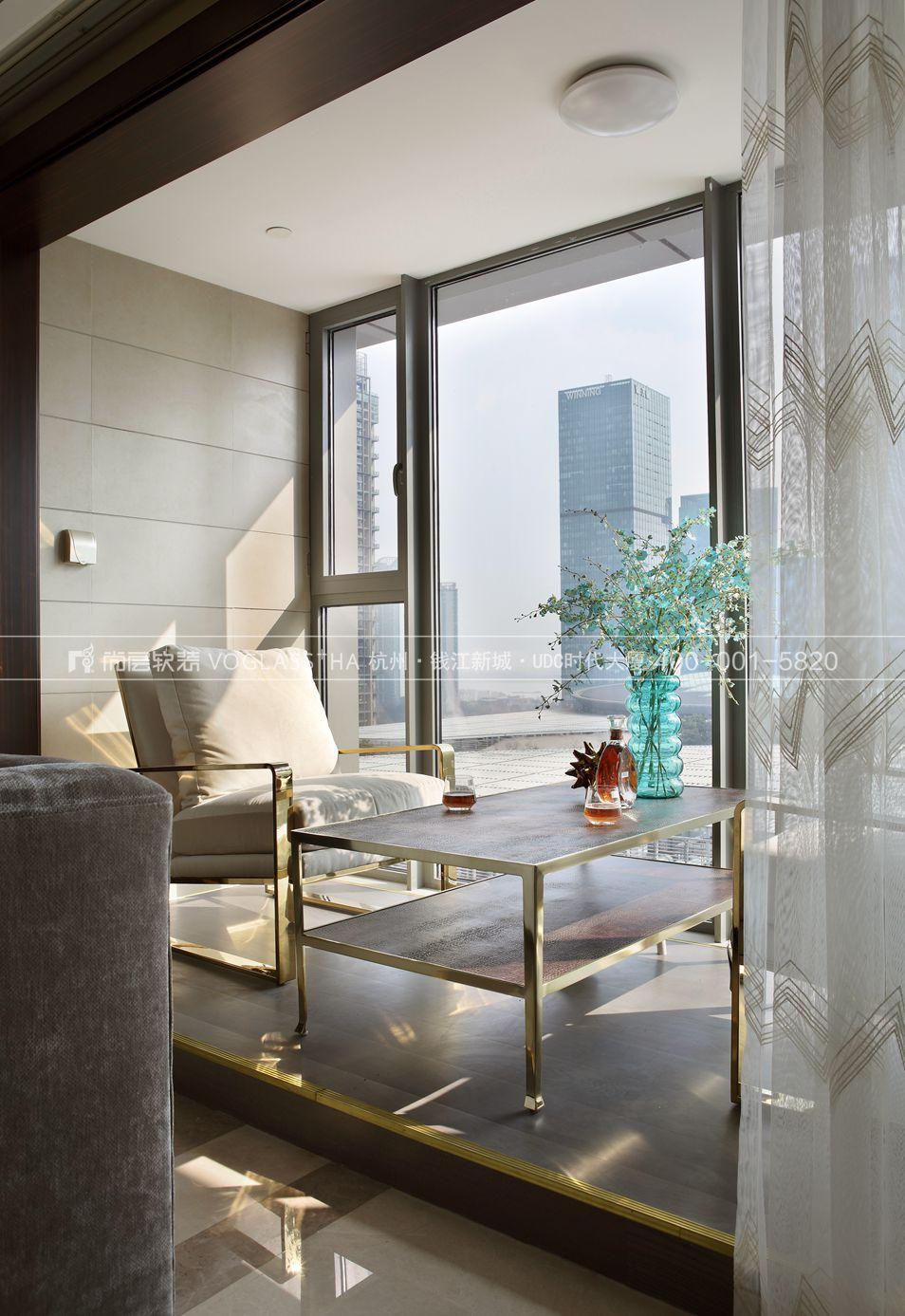 港式轻奢风格软装案例-休闲室实景图-尚层软装