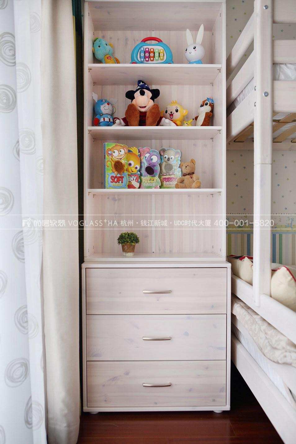 港式轻奢风格软装案例-儿童房实景图-尚层软装