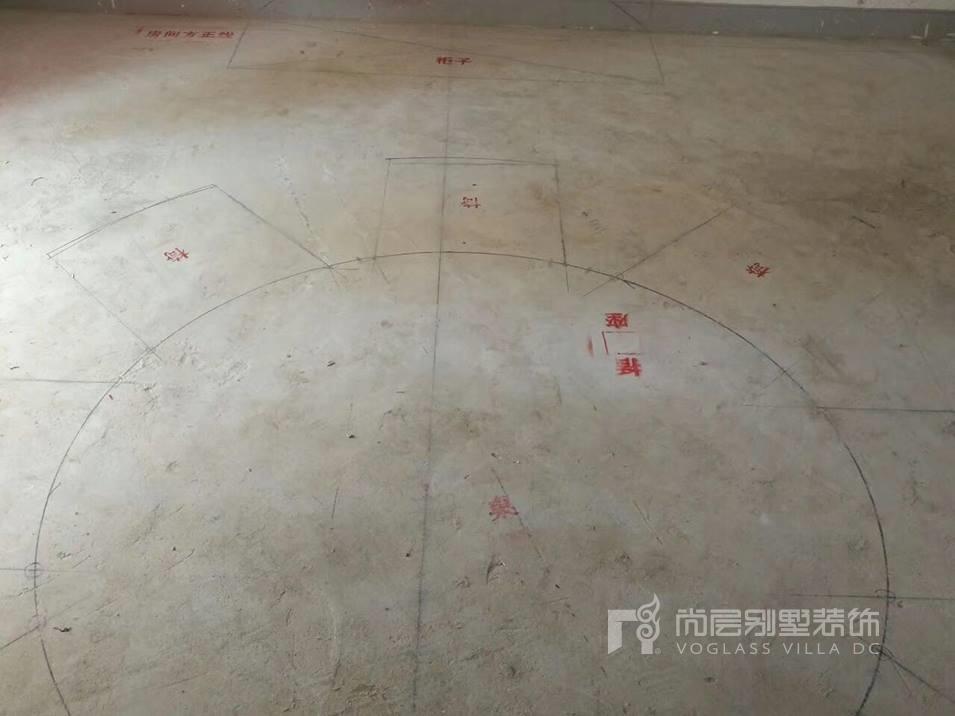 南京尚层装饰帝景天誉弹线阶段
