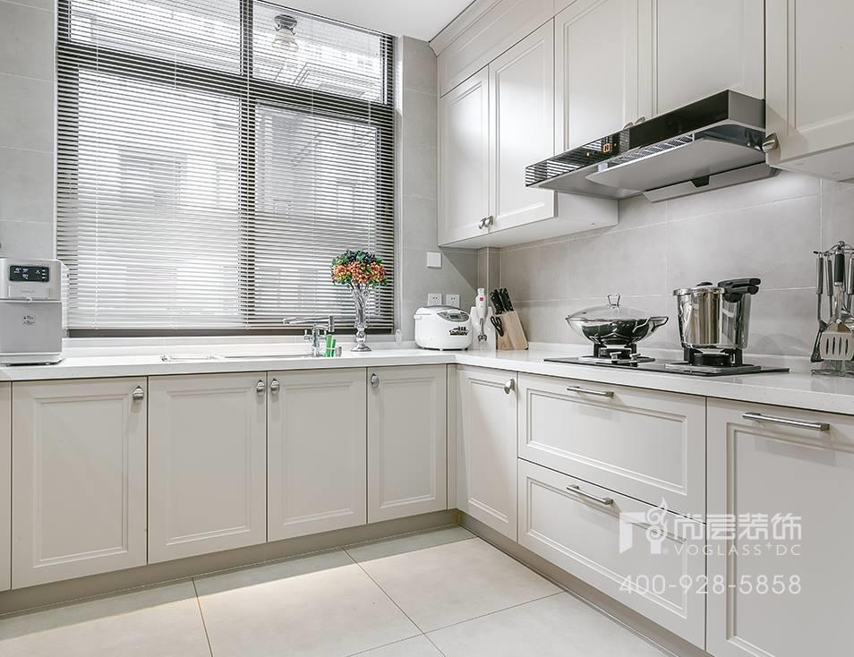 御江山现代美式风格厨房装修实景图