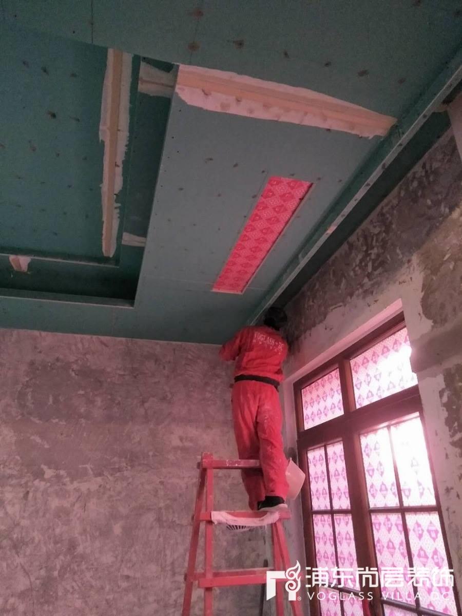 中建大公馆上海尚层装饰木工施工阶段