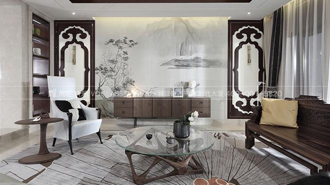 九溪玫瑰园-新中式软装风格-杭州尚层软装
