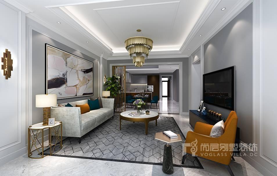 燕西华府会客厅美式风格装修效果图
