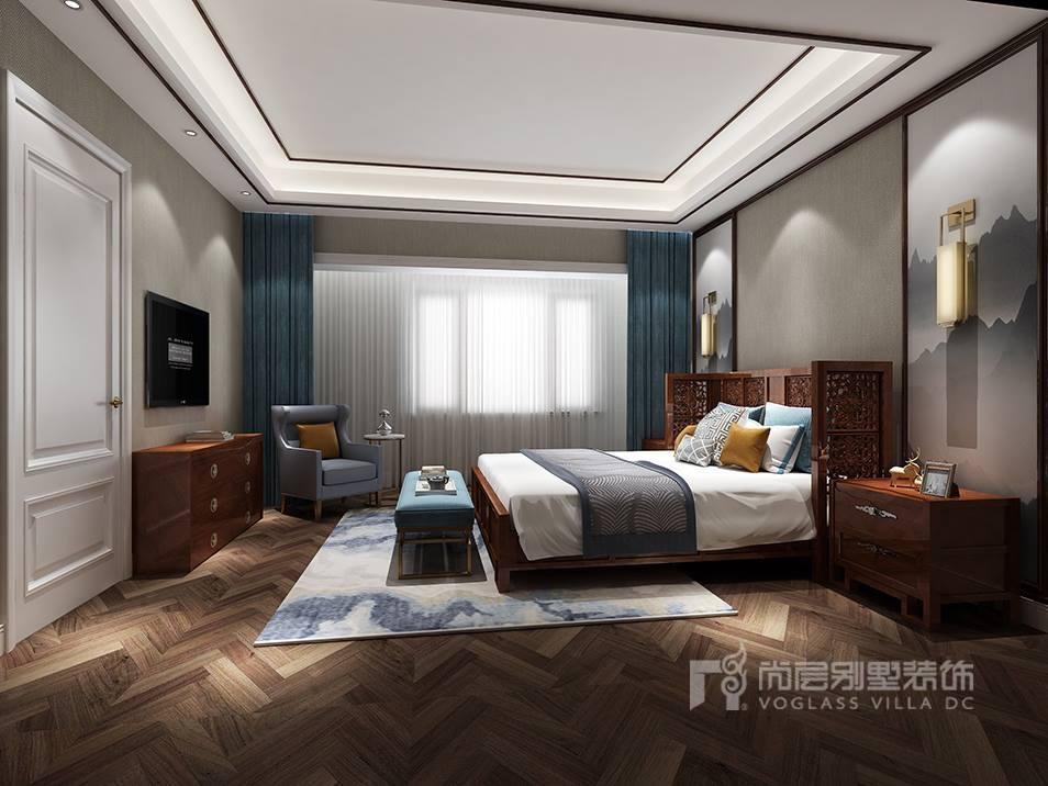 燕西华府简约美式卧室装修效果图