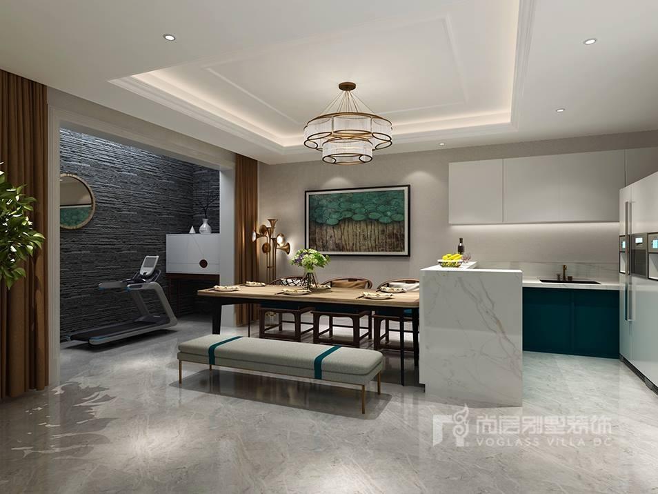 燕西华府简约美式风格地下室装修效果图
